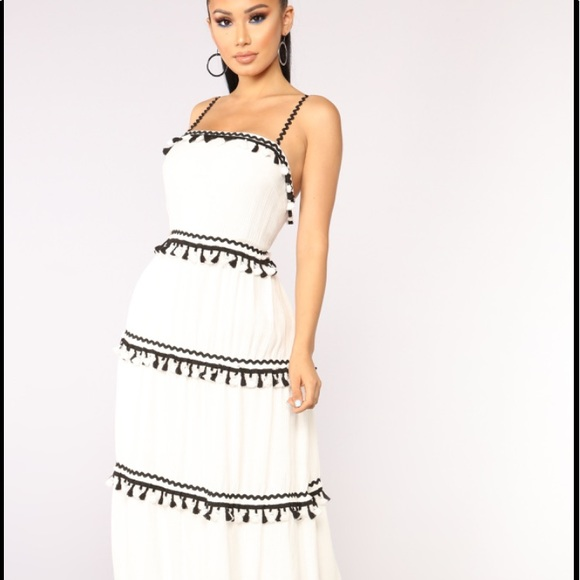 e0ebd3a6051 Fashion Nova Caracas tassel maxi Dress plus size